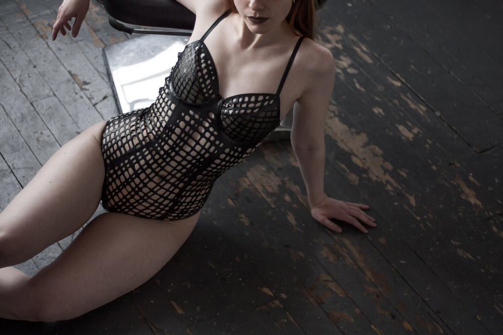 Sasha Louise Latex Grid Bodysuit